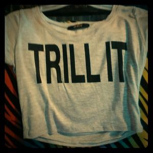 Tops - Grey trill it crop top