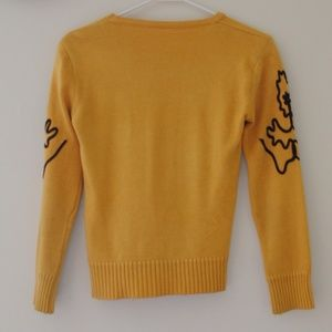 Sweaters - CROPPED YELLOW SWEATER