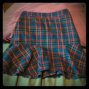 Plaid skirt size large