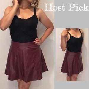 Socialite Dresses & Skirts - Faux leather skirt