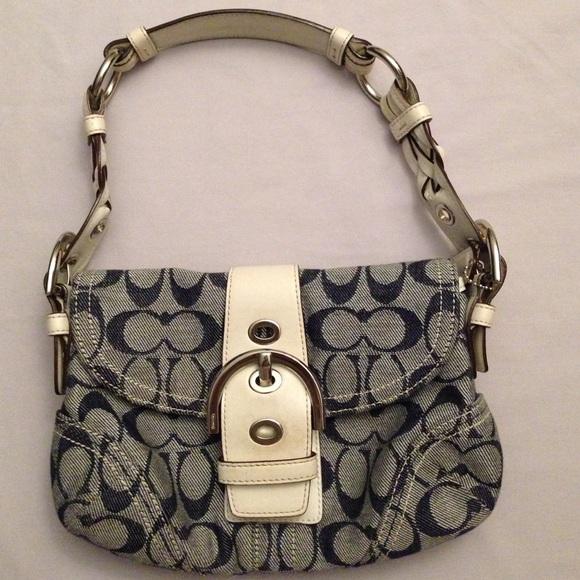 Authentic Coach canvas handbag