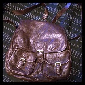 Handbags - Brown faux leather backpack