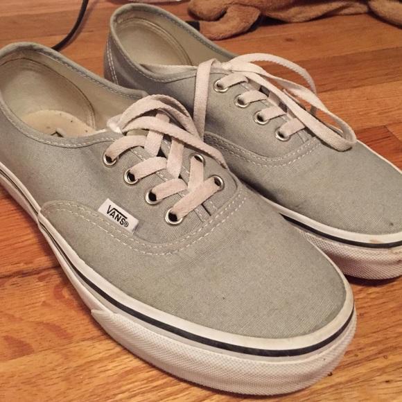 Light Gray Classic Vans W Thick Bottom
