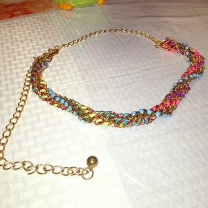 Multicolor chain belt
