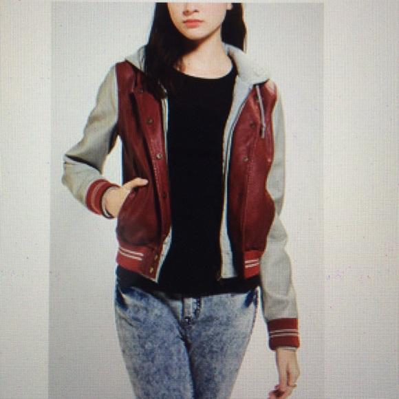 Obey propaganda leather jacket