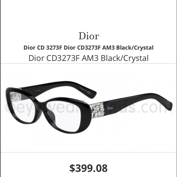 de979ab41e4 33% off Dior Accessories - Black frame Dior eye glasses w crystals from  Husna