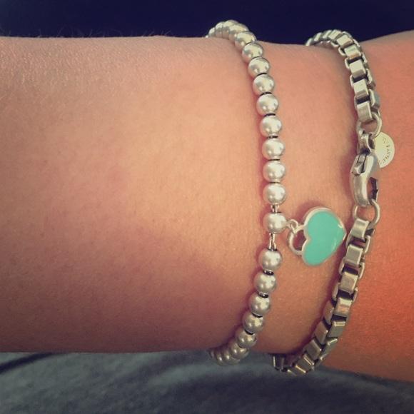 7c71ee0dc03 Return to Tiffany mini heart tag on bead bracelet.  M_55477446c2845646f900d17f