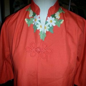 Vintage linen asain dress