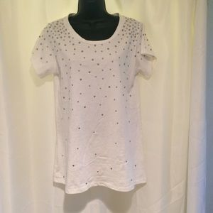 LF stores Tops - white studded Emma and Sam t shirt from LF stores.