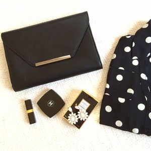 Express Bags - NWT Express Faux Leather Envelope Clutch