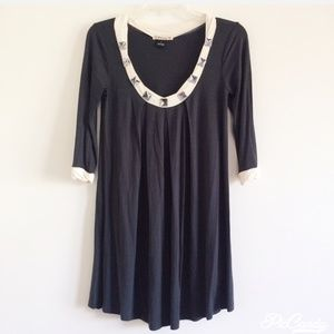 F21 DRESS / TUNIC WITH QUARTER ARM LENGTH SLEVEES