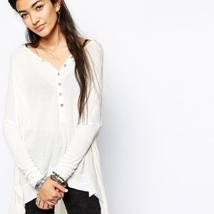 Free People Tops - Free People Oversized Waffle Flowy Top