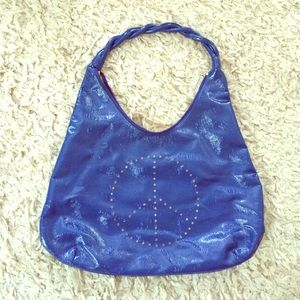 Brand New Peace Blue Sign Purse