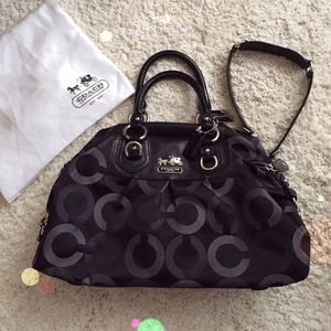 Coach Madison Op Art Black
