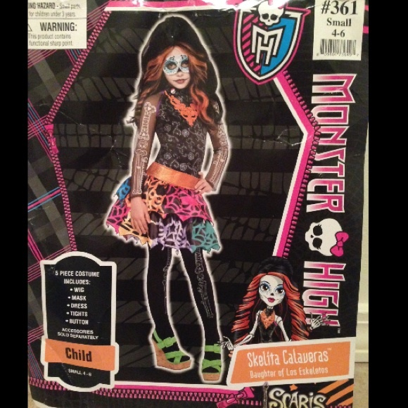 Monster high Skelita Halloween costume & party city Accessories | Monster High Skelita Halloween Costume ...