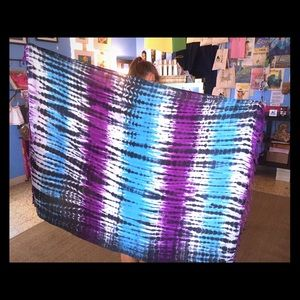 Beach wrap sarong - hand dyed tie dye