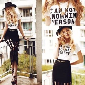 Tops - I am not a morning person T-shirt white black top