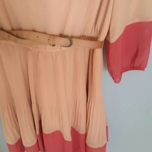 Lauren conrad Dresses - Lauren Conrad chiffon looking coral tan dress