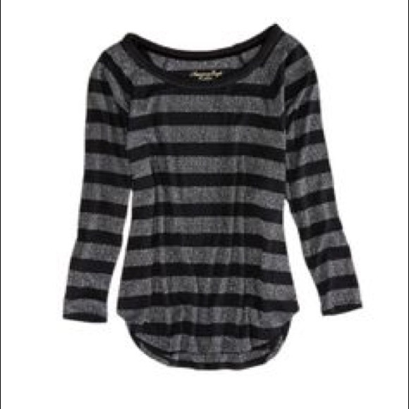 88 Off American Eagle Outfitters Tops Black And Grey