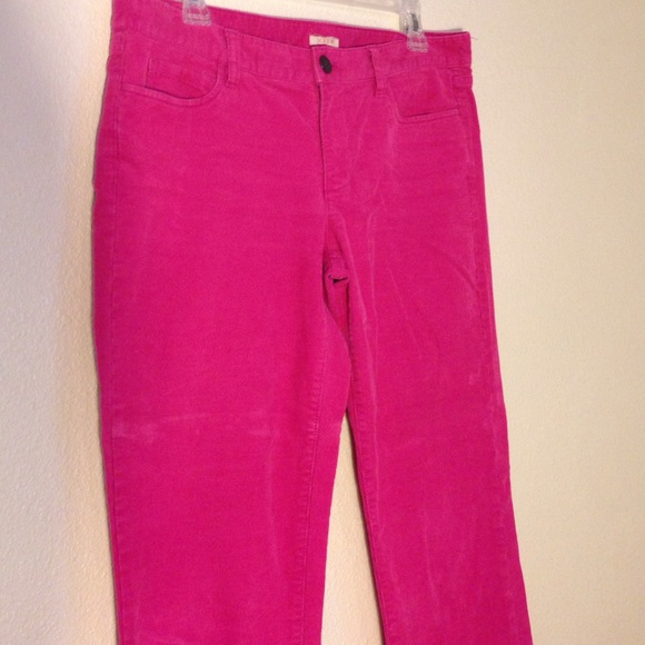 71% off J. Crew Pants - J.Crew matchstick hot pink corduroy pants ...