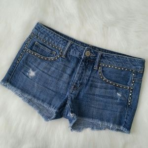 American Eagle Outfitters Denim - American Eagle Studded Distressed Denim Shorts