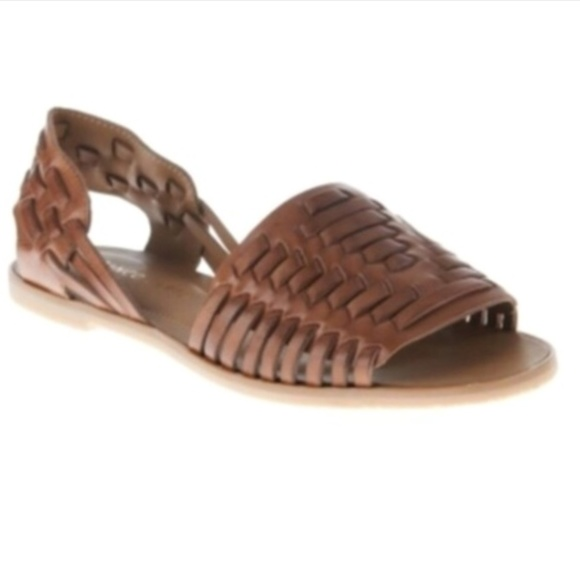 bb844611e04b Franco Sarto brown leather braided sandals