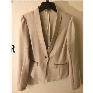 Charlotte Russe beige blazer