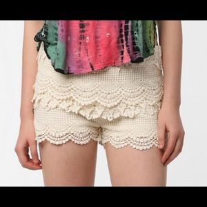 Urban Outfitters Pins & Needles lace crochet short
