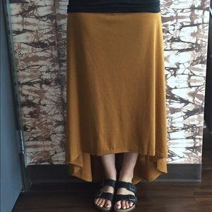 Areve Dresses & Skirts - Mustard High-low Skirt