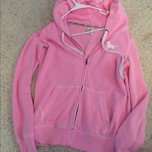 44% off Aeropostale Sweaters - Pink glitter skull hoodie from