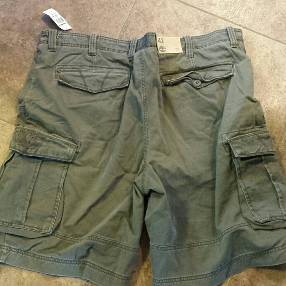 99% off Timberland Other - Men's green timberland cargo shorts ...