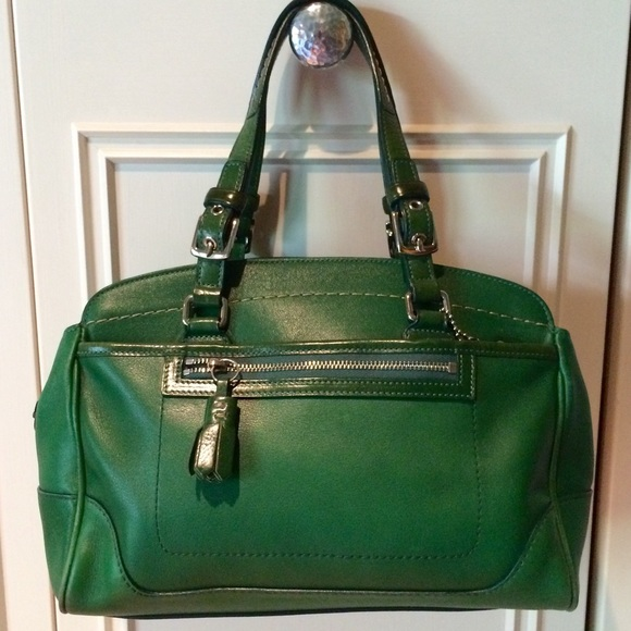 78% off Coach Handbags - Coach Kelly Green Satchel from Janet's ...