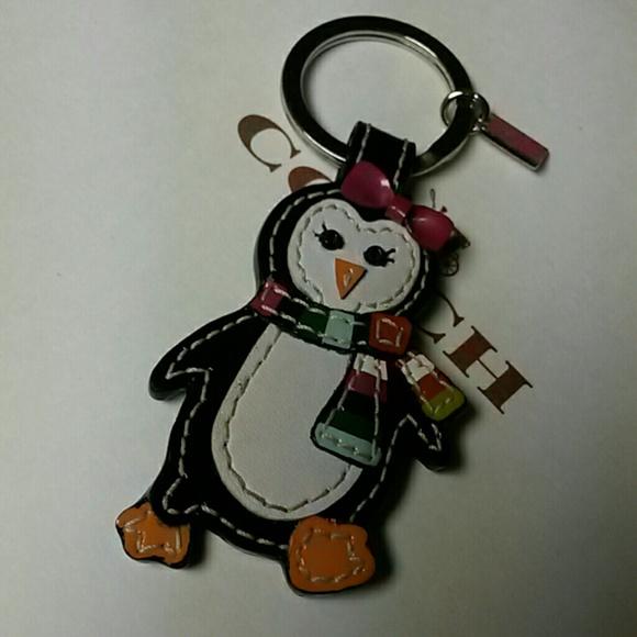 Coach Penguin Keychain Fob Charm