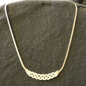 Gold rhinestone necklace new