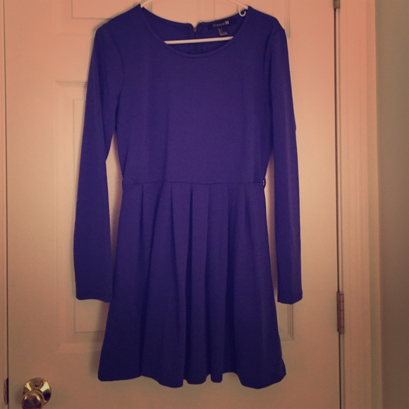 Blue Long Sleeve Dress Forever 21