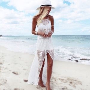 ALMOST GONE! New Sunray Lace Maxi Skirt