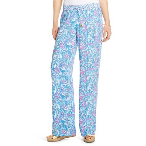 7b3236a8c7 Lilly Pulitzer Pants | For Target Palazzo In My Fans | Poshmark