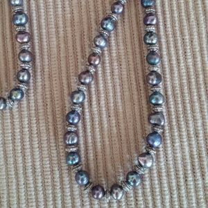 """Necklace 9"""" Blue pearl"""