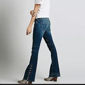 Free People Moto Flare Jeans Size 25
