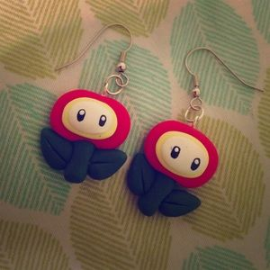 Accessories - Kawaii Video Game Nintendo Flower Earrings