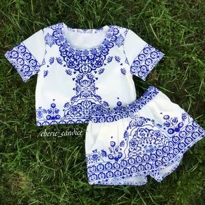Boutique Other - Porcelain Dreamer Outfit Top & Shorts