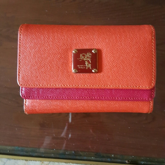 2e0e3fd3ac Marco Polo orange  red wallet