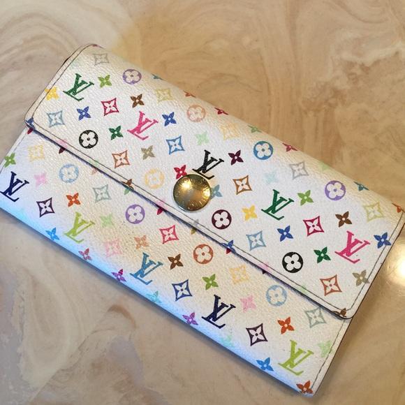 0df413141b9 Authentic Louis Vuitton Multicolor Sarah Wallet