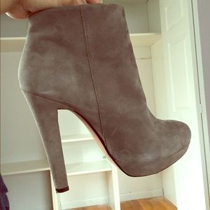 Zara gray ankle booties