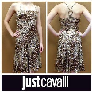 JUST CAVALLI Brown Print Dress