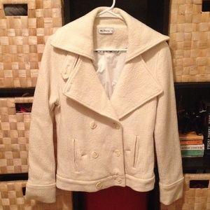 Ben Sherman white pea coat