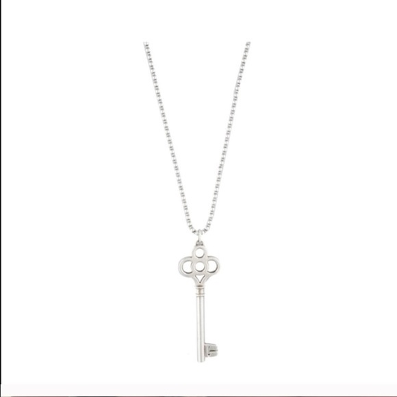 Tiffany co accessories tiffany co crown key pendant necklace crown key pendant necklace aloadofball Image collections