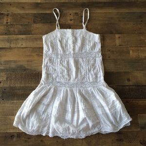 V anthropologie eyelet and lace white dress