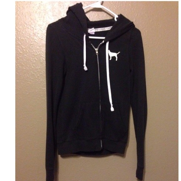 PINK Victoria's Secret - ❗️SOLD❗️VS Pink black hoodie and ...