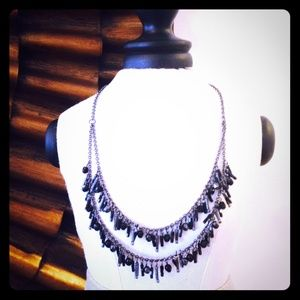 Boutique Jewelry - Black Beaded Artsy Double-Layer Necklace